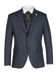 Gibson Men's Navy And Red Check Jacket Blue