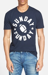 Kid Dangerous 'Sunday Funday' Graphic T Shirt Navy White