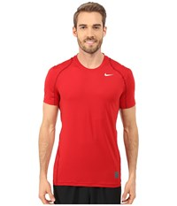 Nike Pro Cool Fitted S S Gym Red Team Red White Men's Short Sleeve Pullover