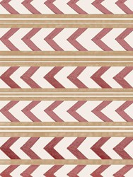 Arjumand's World Herringbone Warm Printed Wallpaper Red