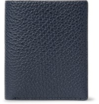 Want Les Essentiels Bradley Pebble Grain Leather Bifold Wallet Navy