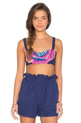 Mara Hoffman Embroidered Bra Top Navy