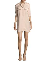 Leo And Sage Solid Linen Shirtdress Blossom