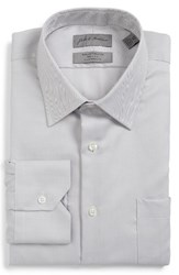 John W. Nordstromr Men's Big And Tall Nordstrom Classic Fit Herringbone Dress Shirt Grey Scone