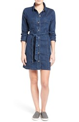 Women's Sanctuary 'Lex' Belted Denim Shirtdress Charmed Wash