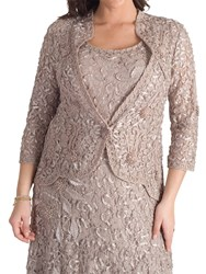 Chesca Lace Cornelli Embroidered Trim Jacket Mink