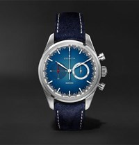 Zenith Chronomaster El Primero Solar Blue Limited Edition Automatic Chronograph 38Mm Stainless Steel And Alcantara Watch