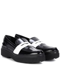 Tod's Platform Leather Loafers Black