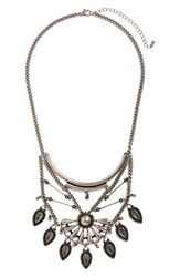 Bp 'Teardrop Sunburst' Statement Necklace Silver