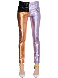 Haider Ackermann Skinny Patchwork Leather Pants