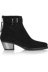 Karl Lagerfeld Texano Suede Ankle Boots Black