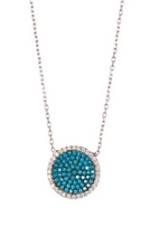 Gab Cos Designs Sterling Silver Turquoise Disc Pendant Necklace Blue
