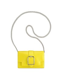 Anne Klein Peggy Leather Crossbody Citron Yellow Silver
