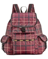 Le Sport Sac Lesportsac Voyager Backpack Modern Plaid