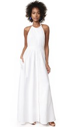 Mara Hoffman Cotton Backless Dress White