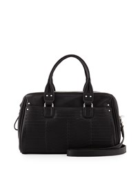 French Connection Dakota Quilted Satchel Bag Black