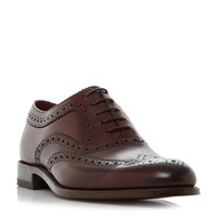 Loake Lace Up Formal Brogues Burgundy