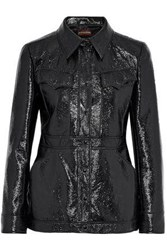 Alexachung Crinkled Faux Patent Leather Jacket Black