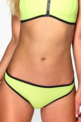 Boohoo Neoprene Mix And Match Contrast Brief Lime
