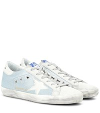 Golden Goose Exclusive To Mytheresa.Com Superstar Leather Sneakers Blue