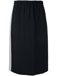 Each X Other Side Stripe Skirt Women Acetate Viscose M Black