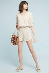 Anthropologie Dahl Romper Neutral Motif