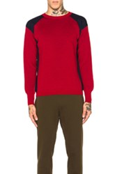 Marni Colorblock Crew Neck Sweater In Red