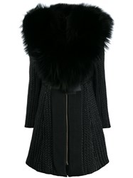 Philipp Plein Long Statement Coat Black