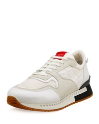 Givenchy Active Textile And Suede Running Sneaker Black White