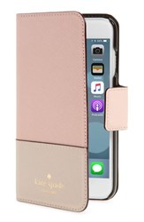 Kate Spade Women's New York Leather Iphone 7 8 And 7 8 Plus Case Pink Warm Vellum Tusk