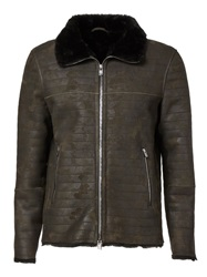 Drome Camouflage Print Quilted Jacket Brown