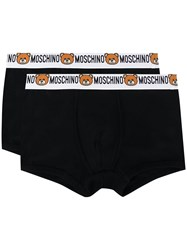 Moschino Pack Of 2 Teddy Logo Boxers Black