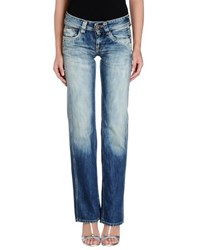 Pepe Jeans Denim Denim Trousers Women Blue