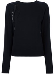 Versus Round Neck Jumper Black