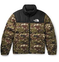 The North Face 1996 Nuptse Camouflage Quilted Shell Down Jacket Green