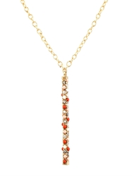 Carolina Bucci Diamond Opal And Gold Magic Wand Necklace