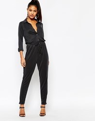 Lipsy Lightweight Jumpsuit With Drawstring Waist Black