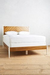 Anthropologie Geo Marquetry Bed Brown