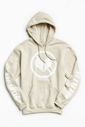 Urban Outfitters Common Culture Hopeless Romantic Hoodie Sweatshirt Tan