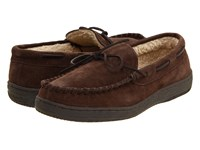 L.B. Evans Morgan Chocolate Suede Slippers Brown