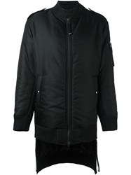 Diesel Black Gold Long Bomber Jacket Black