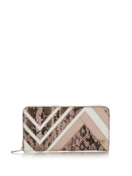 Diane Von Furstenberg Zip Around Continental Wallet Pink Multi