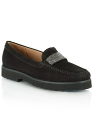 Daniel Genuine Diamante Embellished Loafers Black