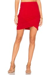 Michael Stars Cross Front Mini Skirt Red