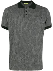 Versace Jeans Textured Polo Shirt Grey