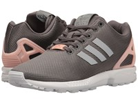 Adidas Zx Flux Mesh Granite Silver Metallic Core Black Women's Running Shoes Brown