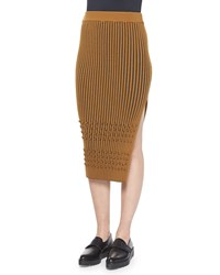 Opening Ceremony Mixed Knit Side Slit Pencil Skirt Women's
