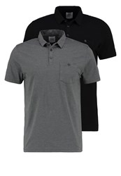 Burton Menswear London 2 Pack Polo Shirt Black Grey