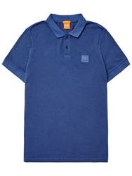 Boss Logo Boss Orange Pascha Slim Fit Polo Shirt Navy