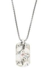 Degs And Sal Men's Hammered Dog Tag Necklace
